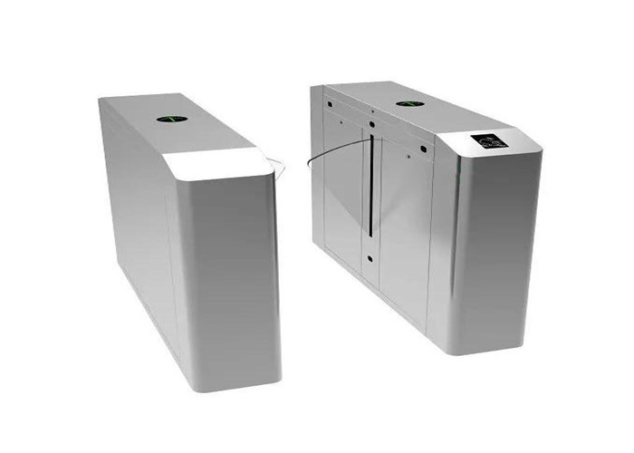 Electrical Retractable Flap Barrier Gate , Supermarket / Subway Turnstile