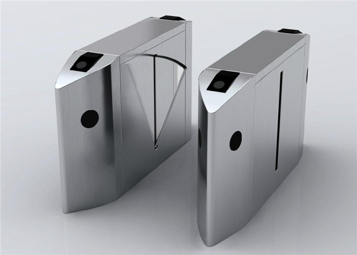 304 / 316 Stainless Steel Flap Barriers Waist High Turnstile With Auto Reset 110V - 240V