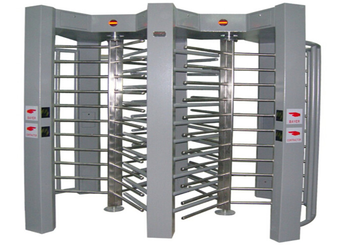 316 Stainless Steel Full Height Turnstile Double Door With Access Control Software