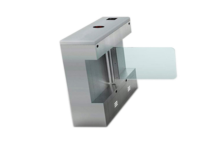 Automatic access control waist high Pedestrian Swing Gate stainless steel with fingerprint reader