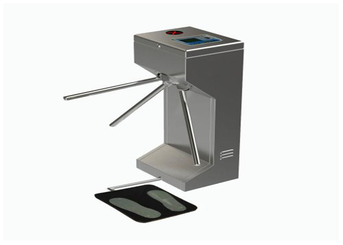 ESD Tripod Turnstile Gate , Waist High Automated Security Gates With Lcd Screen