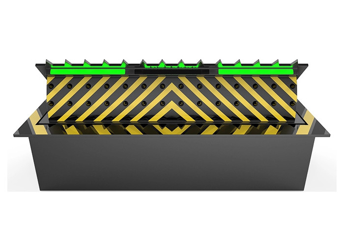 Safety  Hydraulic Road Barriers Blocker PLC Programming Control 500mm Lifting Height