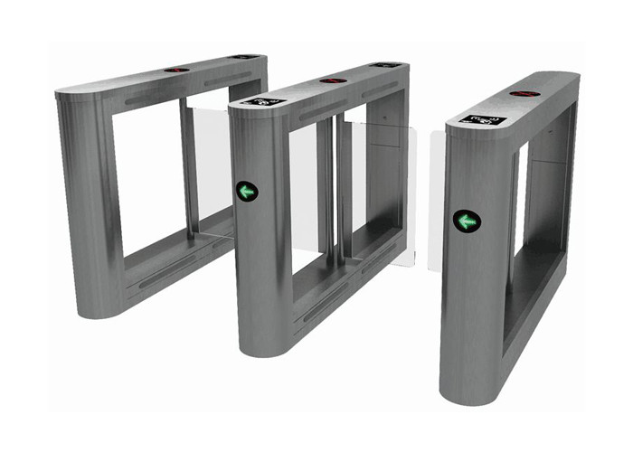 Security Access Control Pedestrian Swing Gate Stainless Steel Barrier For Office Building