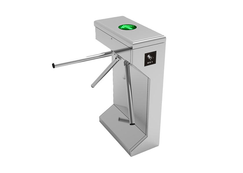 Remote Control Tripod Turnstile Gate Automatic SS304 With ZKteco Access Control System